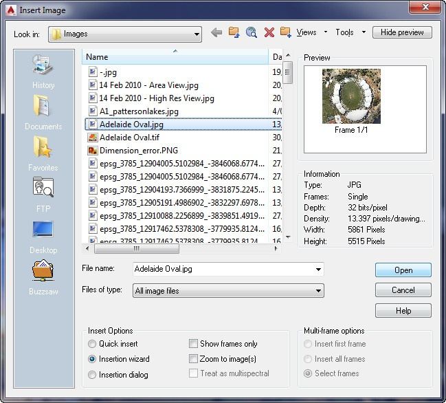 AutoCAD Raster Design - Loading Georeferenced Images - Nearmap